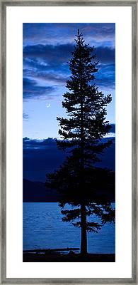 Turquoise Lake Twilight Framed Print by Adam Pender