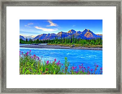 Turquoise River Framed Print by Scott Mahon