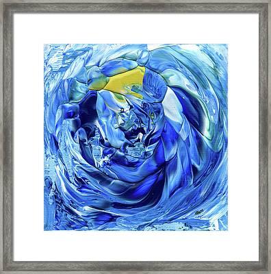 Turquoise Swirl Framed Print by Hakon Soreide