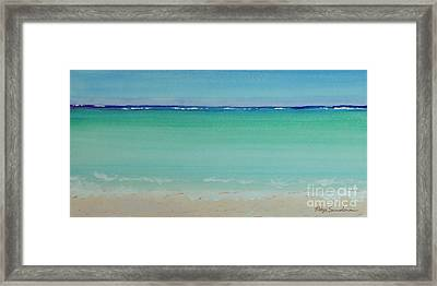 Turquoise Waters Long Abstract Framed Print by Robyn Saunders