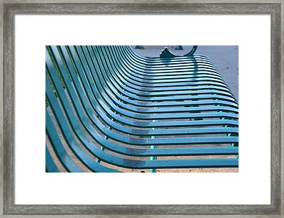 Turquoise Wave Framed Print by Jan Amiss Photography