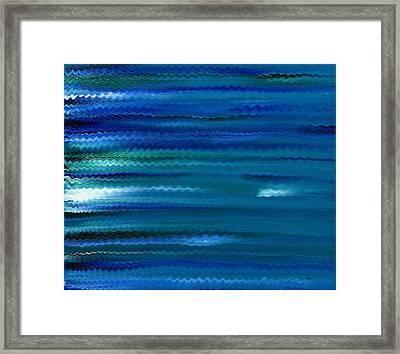 Turquoise Waves Framed Print by Hakon Soreide