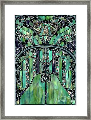 Turquoise Window Jewels Framed Print by Mindy Sommers