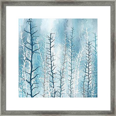 Turquoise Winter Framed Print by Lourry Legarde