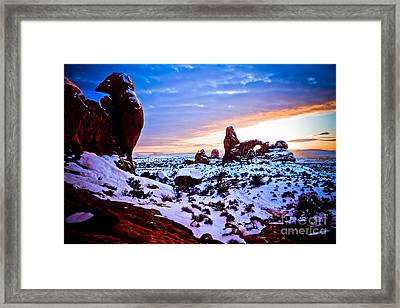 Turret Arch Red Iv Framed Print by Irene Abdou