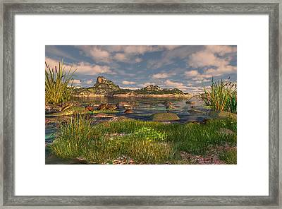 Turtle Cove Framed Print by Mary Almond