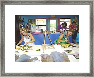 Turtle Time Framed Print by Ellen Burns