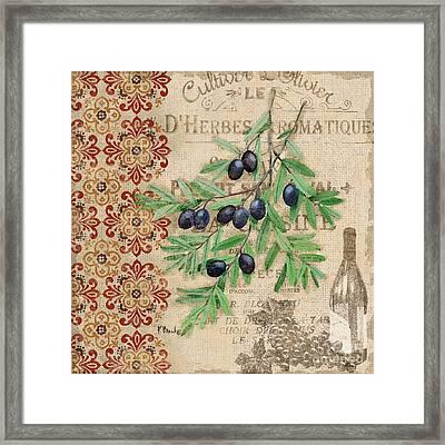 Tuscan Black Olives Framed Print by Paul Brent