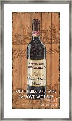 Tuscan Chianti 1 Framed Print by Debbie DeWitt