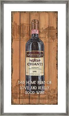 Tuscan Chianti 2 Framed Print by Debbie DeWitt