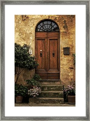 Tuscan Entrance Framed Print by Andrew Soundarajan