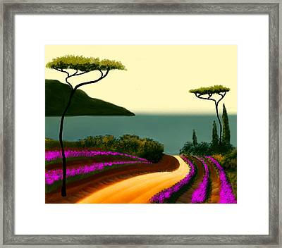 Tuscan Fields Of Beauty Framed Print by Larry Cirigliano