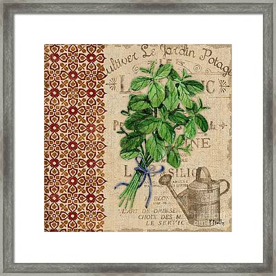 Tuscan Herbs I Framed Print by Paul Brent