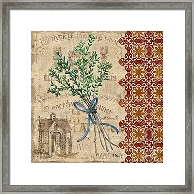 Tuscan Herbs Iv Framed Print by Paul Brent
