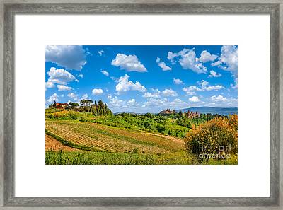 Tuscan Idyll  Framed Print by JR Photography