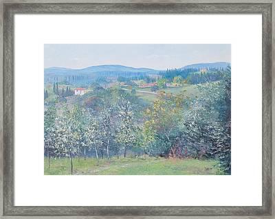 Tuscan Landscape Framed Print by Jan Matson