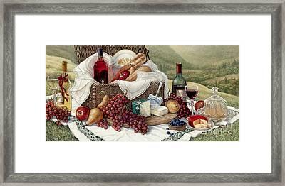 Tuscan Picnic  Framed Print by Janet  Kruskamp