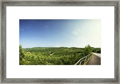 Tuscan Roads Framed Print by Devin Hultgren