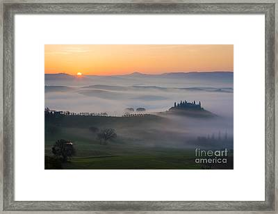 Tuscan Sunrise Framed Print by Brian Jannsen