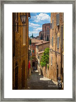 Tuscan Town Framed Print by Inge Johnsson