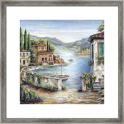 Tuscan Villas By The Sea II Framed Print by Marilyn Dunlap