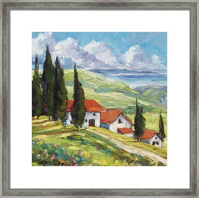 Tuscan Villas Framed Print by Richard T Pranke