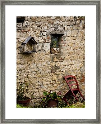 Tuscan Wall Framed Print by Rae Tucker