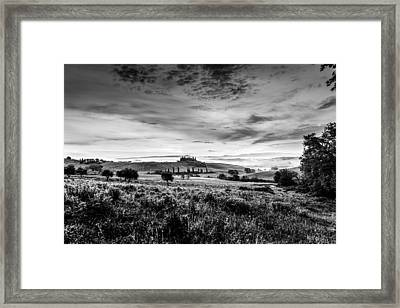 Tuscany In Bw Framed Print by Yuri Santin
