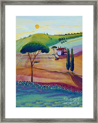 Tuscany Is Beautiful Framed Print by Christine Huwer
