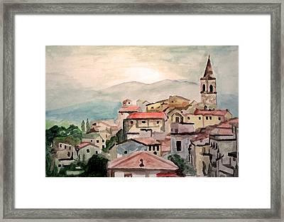 Tuscany Landscape Framed Print by Jim Phillips