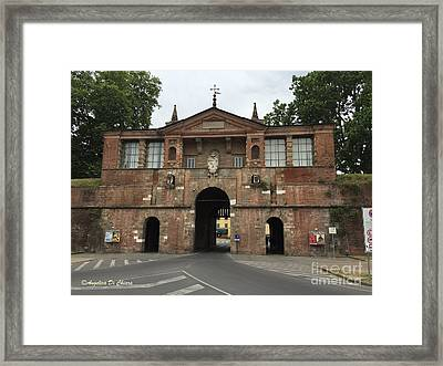 Tuscany - Lucca - City Door Framed Print by Italian Art