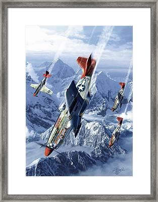 Tuskegee Airmen  Framed Print by Kurt Miller