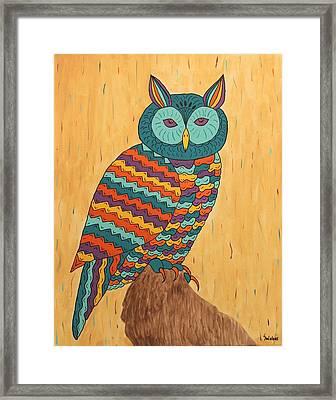Tutie Fruitie Hootie Owl Framed Print by Susie WEBER