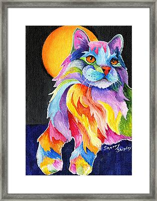 Tutti Fruiti Kitty Framed Print by Sherry Shipley