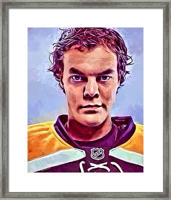 Tuukka Rask Boston Bruins Framed Print by Scott Wallace