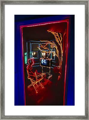 Tv Room Framed Print by Garry Gay