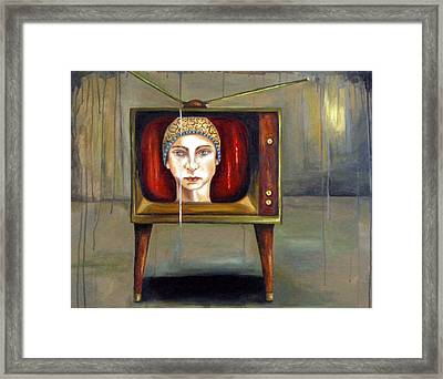 Tv Series 1 Framed Print by Leah Saulnier The Painting Maniac