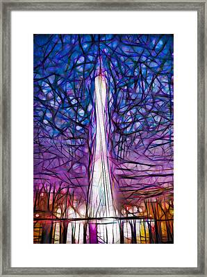 Tv Tower Framed Print by Lanjee Chee