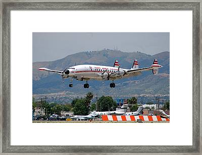 Twa Lockheed Super Constellation N6937c Framed Print by Brian Lockett