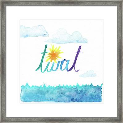 Twat Framed Print by Alicia VanNoy Call