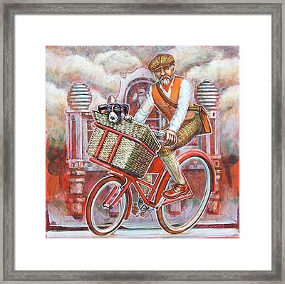 Tweed Runner On Red Pashley Framed Print by Mark Howard Jones