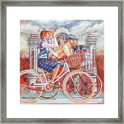 Tweed Runners On Pashleys Framed Print by Mark Howard Jones