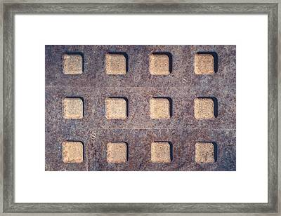 Twelve Squares Framed Print by Scott Norris