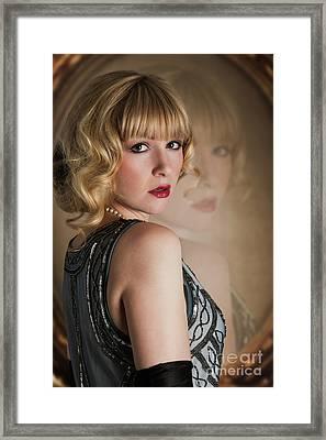 Twenties Woman Framed Print by Amanda Elwell