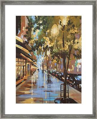 Twenty One East Hubbard Street Chicago Framed Print by Sandra Strohschein