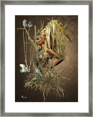 Twiggy Framed Print by Ali Oppy