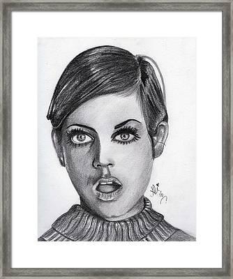 Twiggy Framed Print by Bobby Dar