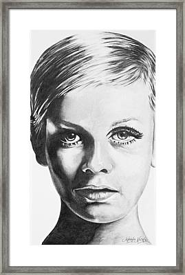Twiggy Framed Print by Jeleata Nicole
