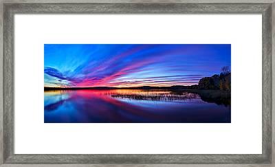Twilight Burn Panorama Framed Print by Bill Caldwell -        ABeautifulSky Photography