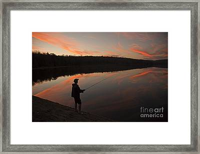 Twilight Fishing Delight Framed Print by John Stephens